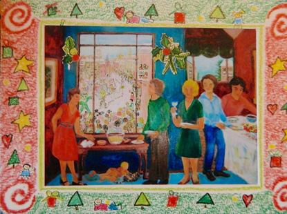 Picture of Christmas card. Dinner Party