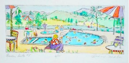 Picture of Ruidoso Suite #5 with watercolor