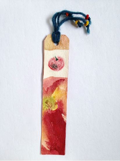 Picture of Bookmark with apple