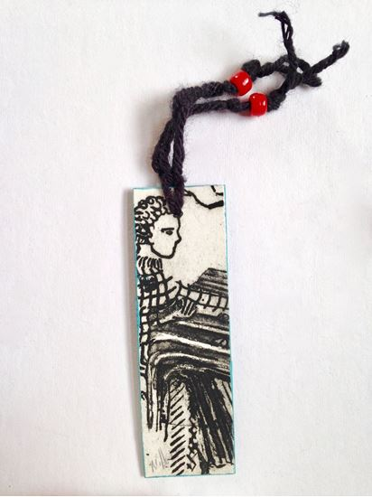 Picture of Bookmark with Boy at desk