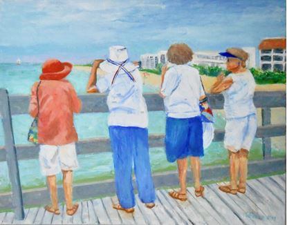 Picture of The Any Color Hat Society Meets on the Pier